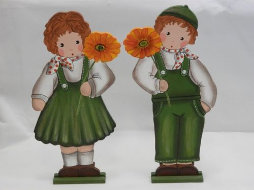 Large Green Outfit Gerbera Boy and Girl